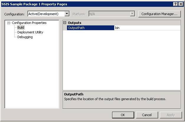 how to build ssis package