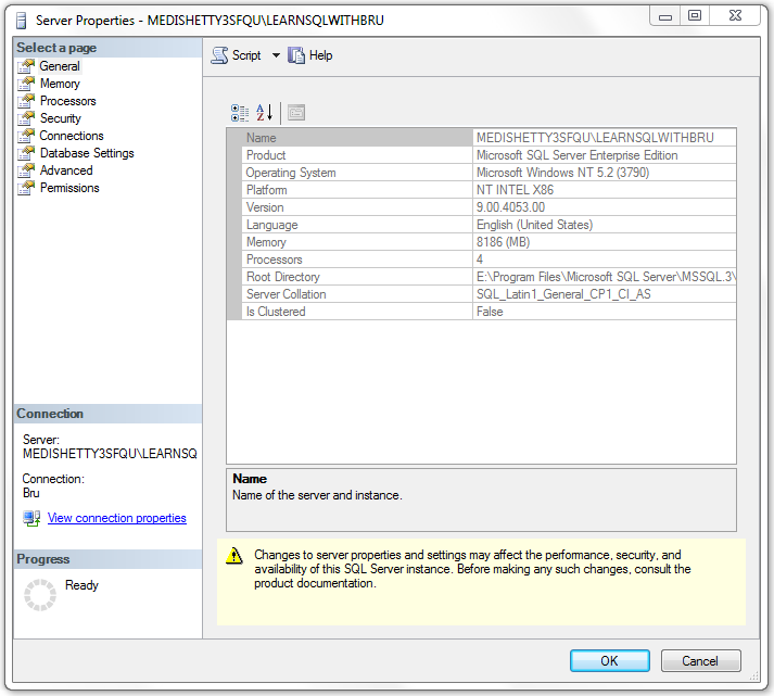 Change Sql Server Collation